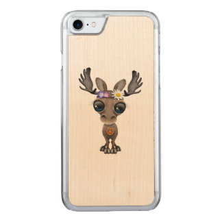 Cute Baby Moose Hippie Carved iPhone 7 Case