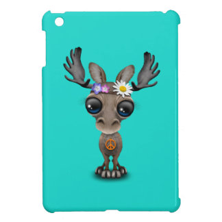 Cute Baby Moose Hippie Case For The iPad Mini