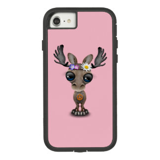 Cute Baby Moose Hippie Case-Mate Tough Extreme iPhone 8/7 Case