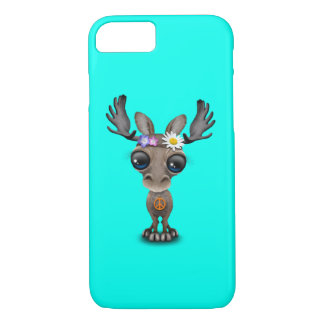 Cute Baby Moose Hippie iPhone 7 Case