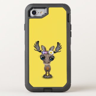 Cute Baby Moose Hippie OtterBox Defender iPhone 8/7 Case
