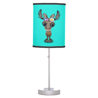 Cute Baby Moose Hippie Table Lamp