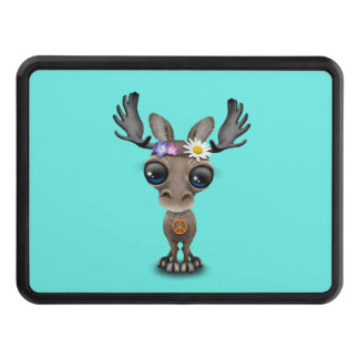 Cute Baby Moose Hippie Trailer Hitch Cover