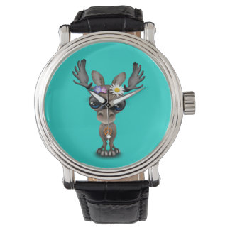 Cute Baby Moose Hippie Wristwatches