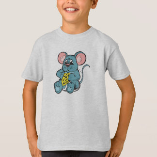 cute baby mouse eating cheese shirt