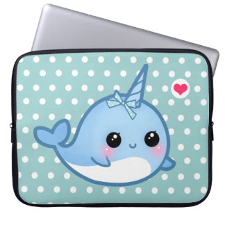 Cute baby narwhal laptop sleeves