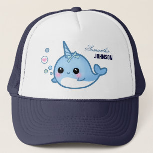 Cute Baby Narwhal   Personalized Trucker Hat