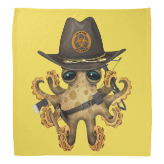 Cute Baby Octopus Zombie Hunter Bandana