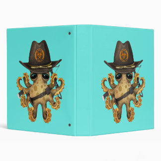 Cute Baby Octopus Zombie Hunter Binders