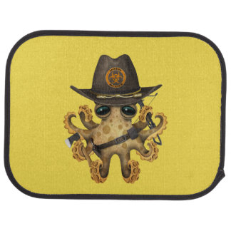 Cute Baby Octopus Zombie Hunter Car Mat