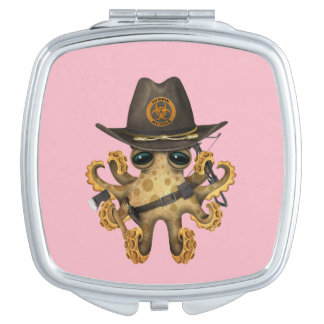 Cute Baby Octopus Zombie Hunter Compact Mirror