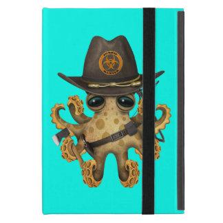 Cute Baby Octopus Zombie Hunter iPad Mini Cover