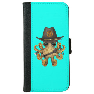 Cute Baby Octopus Zombie Hunter iPhone 6 Wallet Case