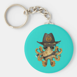 Cute Baby Octopus Zombie Hunter Keychain