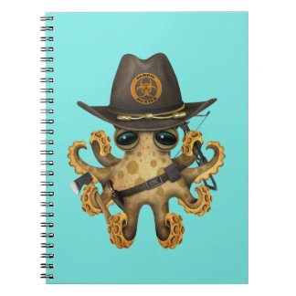 Cute Baby Octopus Zombie Hunter Notebooks