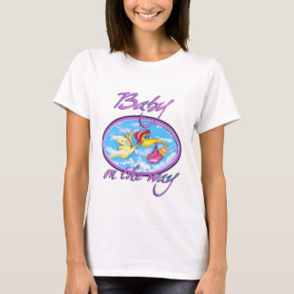cute baby on the way t-shirt