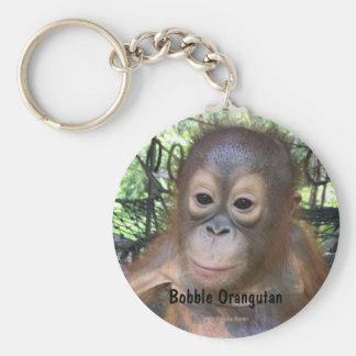 Cute Baby Orangutan Orphan in Borneo Keychain
