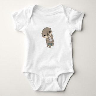 Cute Baby Otter Pup Baby Bodysuit