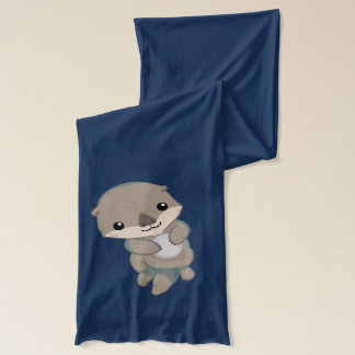 Cute Baby Otter Pup Scarf