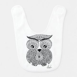 Cute baby owl bib