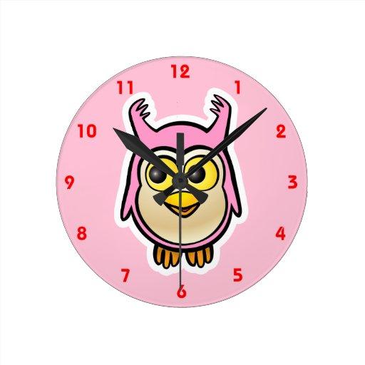 Cute Baby Owl Wall Clocks