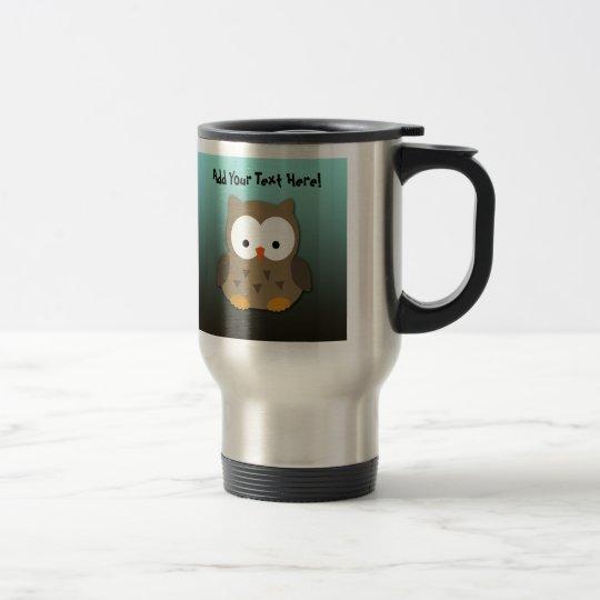 Cute Baby Owl Personalized Travel Mug