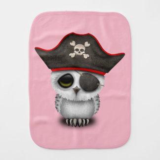 Cute Baby Owl Pirate Burp Cloth