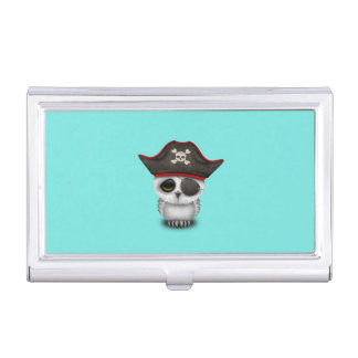 Cute Baby Owl Pirate Business Card Holder