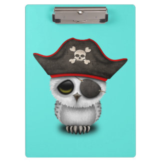 Cute Baby Owl Pirate Clipboard