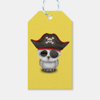 Cute Baby Owl Pirate Gift Tags