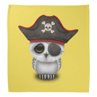 Cute Baby Owl Pirate Head Kerchiefs