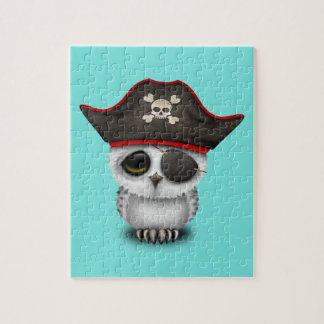 Cute Baby Owl Pirate Jigsaw Puzzle