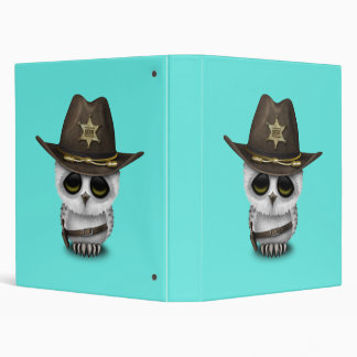 Cute Baby Owl Sheriff Binders