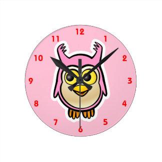 Cute Baby Owl Wallclock