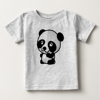 Cute Baby Panda Fine Jersey Baby T-Shirt