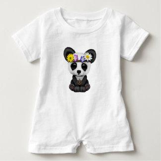 Cute Baby Panda Hippie Baby Romper
