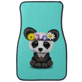 Cute Baby Panda Hippie Car Mat