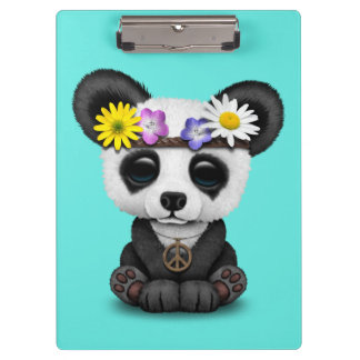 Cute Baby Panda Hippie Clipboard