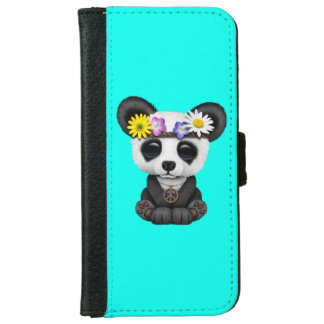 Cute Baby Panda Hippie iPhone 6 Wallet Case