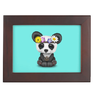 Cute Baby Panda Hippie Keepsake Box