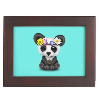 Cute Baby Panda Hippie Keepsake Boxes