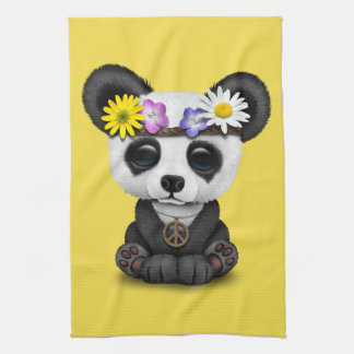 Cute Baby Panda Hippie Kitchen Towel