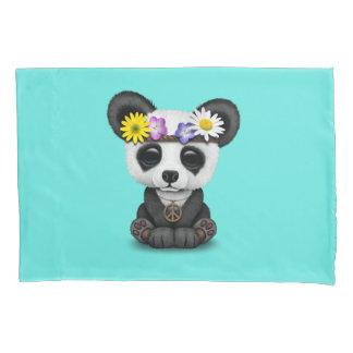 Cute Baby Panda Hippie Pillowcase