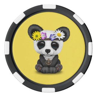 Cute Baby Panda Hippie Poker Chips