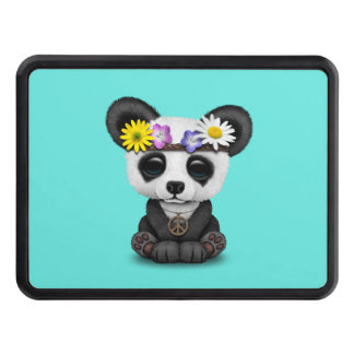 Cute Baby Panda Hippie Trailer Hitch Cover