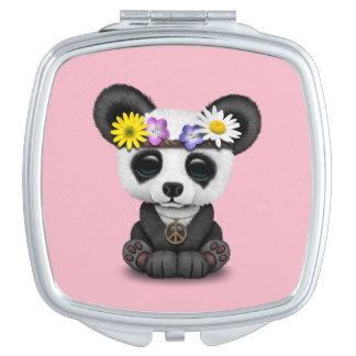Cute Baby Panda Hippie Travel Mirror