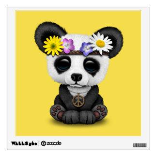 Cute Baby Panda Hippie Wall Decal