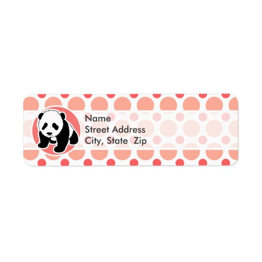 Cute Baby Panda; Pink & Coral Polka Dots