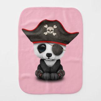 Cute Baby Panda Pirate Burp Cloth