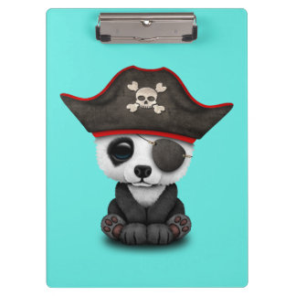 Cute Baby Panda Pirate Clipboard